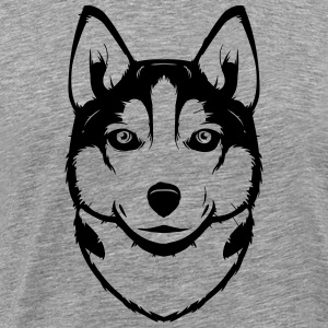 Siberian Husky Long sleeve shirts - Men's Premium T-Shirt