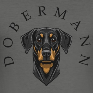 Dobermann Bags & Backpacks - Men's Slim Fit T-Shirt