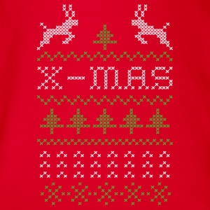 X-mas ugly sweater design for red Tee shirts - Body bébé bio manches courtes