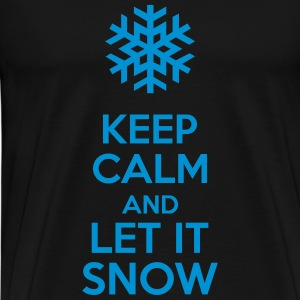 Keep Calm And Let It Snow Sweat-shirts - T-shirt Premium Homme