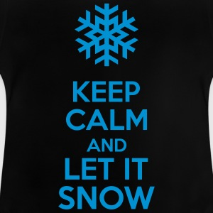 Keep Calm And Let It Snow Skjorter - Baby-T-skjorte