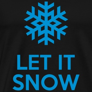 Let It Snow Gensere - Premium T-skjorte for menn