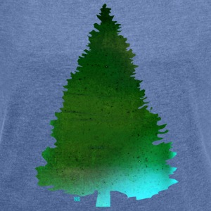 Green Christmas tree Bags & Backpacks - Women's T-shirt with rolled up sleeves