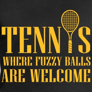 Tennis - where fuzzy balls are welcome T-shirts - Mannen sweatshirt van Stanley & Stella