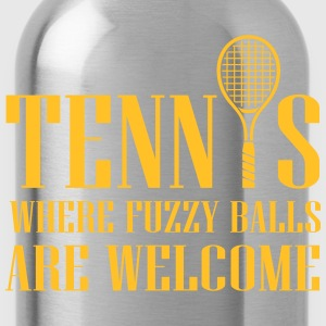 Tennis - where fuzzy balls are welcome T-shirts - Vattenflaska