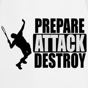 Tennis - Prepare, attack, destroy Tops - Keukenschort