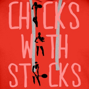 Tennis - chicks with sticks Tops - Mannen Premium hoodie