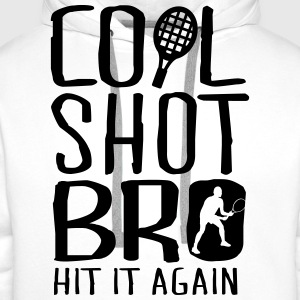 Tennis - cool shot bro, hit it again Magliette - Felpa con cappuccio premium da uomo
