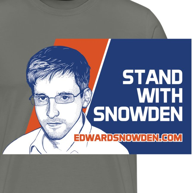 Stand with Snowden Men's T-Shirt