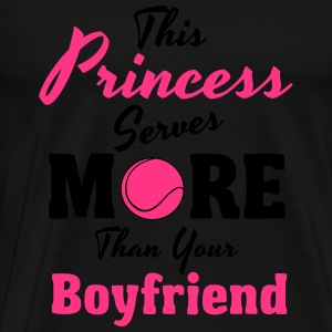 Tennis - This princess serves more Sweaters - Mannen Premium T-shirt