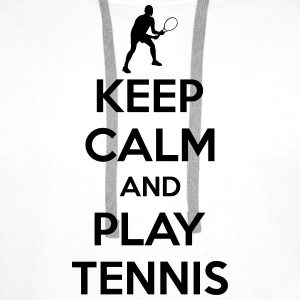 Keep calm and play Tennis Shirts - Mannen Premium hoodie
