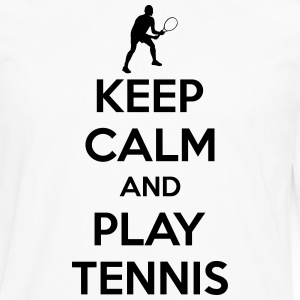 Keep calm and play Tennis T-shirts - Mannen Premium shirt met lange mouwen