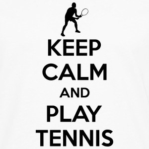 Keep calm and play Tennis Tanktoppar - Långärmad premium-T-shirt herr