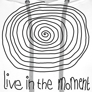Live In The Moment Langarmshirts - Männer Premium Hoodie