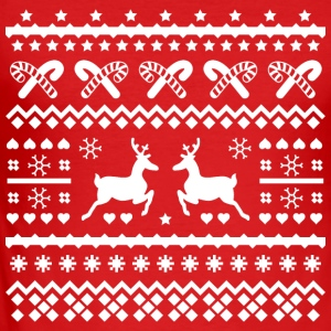 christmas reindeer kerst rendieren Sweaters - slim fit T-shirt