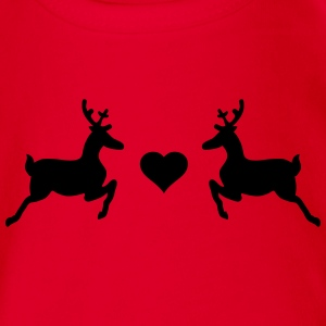 reindeer Shirts - Organic Short-sleeved Baby Bodysuit