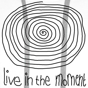 Live In The Moment T-shirts - Mannen Premium hoodie