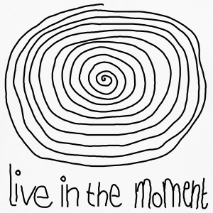 Live In The Moment T-shirts - Herre premium T-shirt med lange ærmer