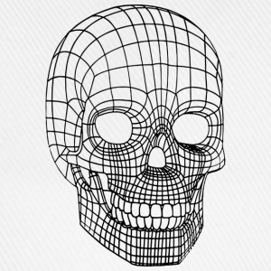 Digital Skull Wireframe Black T-Shirts - Baseball Cap