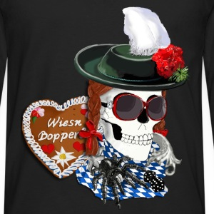 Munich-skull girl T-Shirts - Men's Premium Longsleeve Shirt