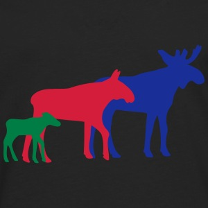 Moose goes together family T-shirts - Långärmad premium-T-shirt herr