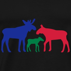 Moose family is Sweaters - Mannen Premium T-shirt