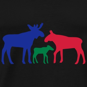 Moose family is Paraplyer - Herre premium T-shirt