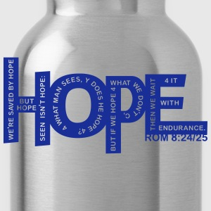 HOPE - Rom 8 24 - 1 Farb Vektor T-Shirts - Trinkflasche