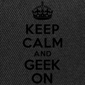 Keep calm and geek on Sweat-shirts - Casquette snapback