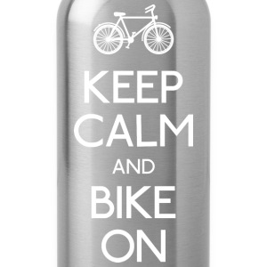 keep calm bike houden kalm fiets Sweaters - Drinkfles