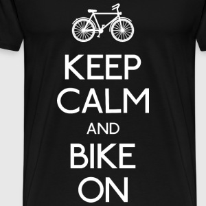keep calm bike houden kalm fiets Sweaters - Mannen Premium T-shirt