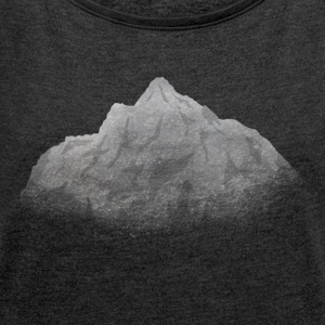 mountains Hoodies & Sweatshirts - Women's T-shirt with rolled up sleeves