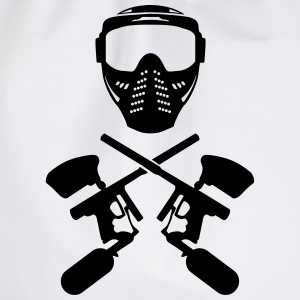 Paintball mask och pistol T-shirts - Gymnastikpåse