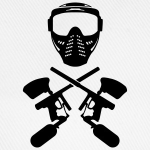 Paintball mask and gun T-Shirts - Baseball Cap