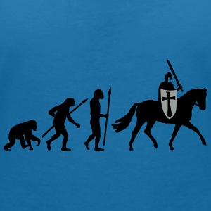 evolution_of_man_knight_112014_b_2c Accessoires - Frauen T-Shirt mit V-Ausschnitt