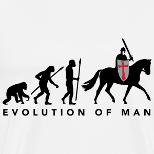 evolution_of_man_knight_112014_a_3c Pullover & Hoodies - Männer Premium T-Shirt