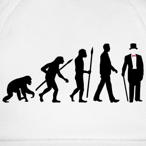 evolution_of_man_gentleman_112014_a_2c T-Shirts - Baseballkappe
