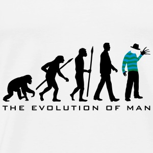 evolution_of_man_horror_nightmare_freddy Accessoires - Männer Premium T-Shirt