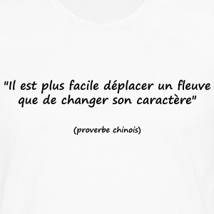 t-shirt homme proverbe chinois - T-shirt manches longues Premium Homme