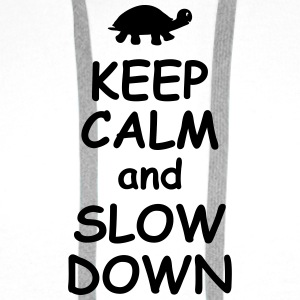 Keep calm and slow down   jogging fitness Maraton  Väskor & ryggsäckar - Premiumluvtröja herr