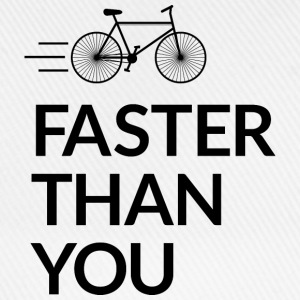 Faster than you snabbare än du T-shirts - Basebollkeps