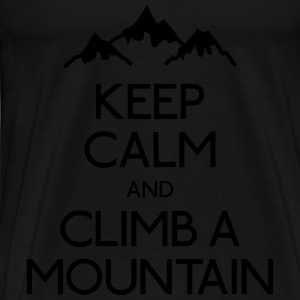 keep calm mountain holde ro fjell Gensere - Premium T-skjorte for menn