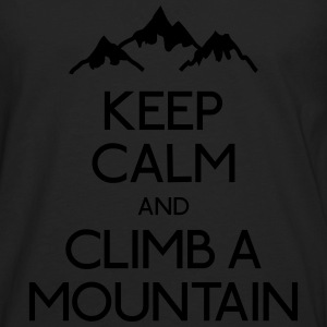 keep calm mountain houden kalm berg Shirts - Mannen Premium shirt met lange mouwen