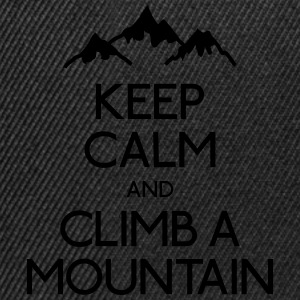 keep calm mountain houden kalm berg Shirts - Snapback cap