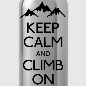 keep calm rock climbing Shirts - Water Bottle