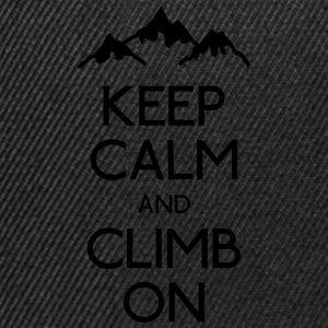 keep calm rock climbing Shirts - Snapback Cap