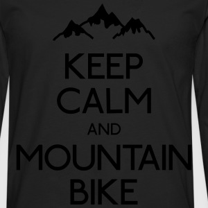 keep calm mountain bike mantener calma btt Sudaderas - Camiseta de manga larga premium hombre