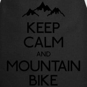 keep calm mountain bike houden kalm mountainbike T-shirts - Keukenschort