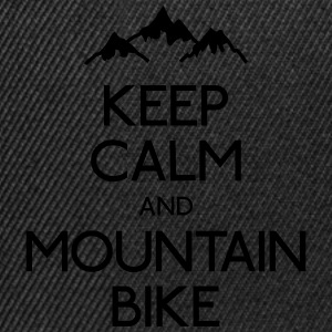 keep calm mountain bike mantener calma btt Camisetas - Gorra Snapback