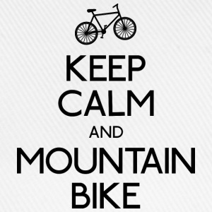 keep calm mountain bike hålla lugn mountainbike T-shirts - Basebollkeps